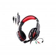 Audífonos Gamer, G9000 Gaming Auriculares Para Juegos 3.5mm Y USB 7.1 Auriculares Para Sonido Envolvente (Negro Rojo)