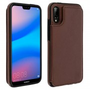forcell Capa Forcell Wallet Carteira Castanha para Huawei Mate 20 Lite