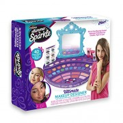 Cra-Z-Art 17551 Shimmer n Sparkle Ultimate Makeup Designer Lighted Mirror Table Top Vanity, Multicolor