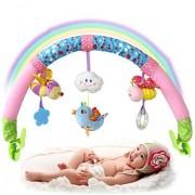 SKK BABY Musical Stroller Crib Activity Bar Toys Take Along Arch Gift for Newborn Infant