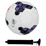 Kit of Premier League Purple Football (Size-5) with Air Pump & Needle
