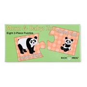 Rich Frog Matching Puzzles, 2-Piece Educational Puzzle for Toddlers - Mom and Baby Zoo Animals