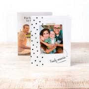 smartphoto Fotobok stor porträtt hårt omslag - Läderimitation