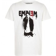 River Island Boys White 'Eminem' T-shirt - Size 9 - 10 Years (EU)