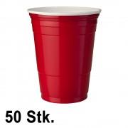 StudyShop 50 Stück Rote Becher (Red Cups 16 oz.)
