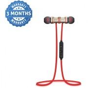 Shutterbugs Magnetic In Ear Wireless Earphones With Mic (Multicolor- Red/Black)