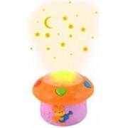 Lampa de veghe cu proiectie Led Senzor Voce si 12 melodii incluse pentru camera copilului culoare Roz