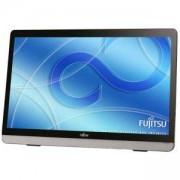 Монитор FUJITSU E22 Touch, LED, 21.5 inch, Wide, Full HD, DVI-D, D-Sub, HDMI, Черен/сребрист, FUJ-MON-E22Touch