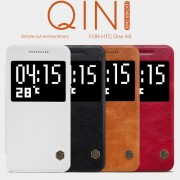 HTC One A9 Nilkin Window Кожен Калъф и Протектор