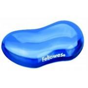Csuklótámasz, mini, géltöltésű, FELLOWES Crystal™ Gel, kék (IFW91177)