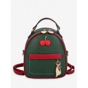 Zaful Mini sac à dos couleur de contraste chat charme Vert Forêt Noire