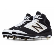 New Balance Mid-Cut 4040v3 Metal Baseball Cleat Black with White