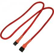 Cablu prelungitor Nanoxia 3-pini Molex, 60cm, red/black