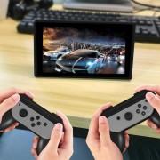 Een paar HAMTOD voor Nintendo Switch vreugde-Con Controller (niet meegeleverd) Controller houder Grips(Black)