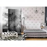 Spanische Wand mit Pusteblumen und Regentropfen modern