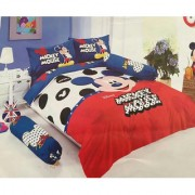 Niryat International 150 TC Cotton Double Mickey Mouse Bedsheet Multicolor