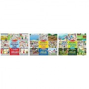 Melissa & Doug Reusable Sticker Pads Set: Habitats Vehicles Town: 115 Stickers