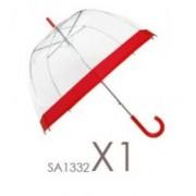 Esernyő Női Szélén Fekete Csíkkal (képen piros)