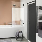 Get Wet Badwand I AM 75x160 cm Zwart met Gesatineerde Band