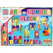 ABC és számok nagy építőkocka 64 db-os készlet