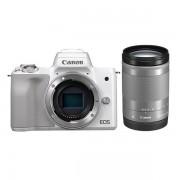 """Aparat Foto Mirrorless Canon EOS M50 , 24.1 MP, Filmare 4K, TFT 3"""" + obiectiv + EF-M 18-150mm IS STM (Alb)"""