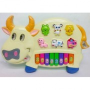 Nmj Musical Cow Piano Keyboard Toy Game (Multicolor)