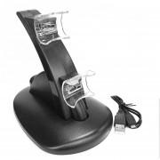 ER Luz LED Negro Rápida Base De Carga USB Dual Stand Cargador Para PlayStation 3 -Negro