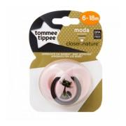 Suzeta Moda Tommee Tippee roz 6-18 luni Pisica