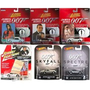 Johnny Lightning Hot Wheels James Bond Spectre DB10 Skyfall Aston Martin DB5 & 007 Johnny Lightning Cars - Dr. No Chevy / BMW Z8 Convertible TWiNE / Thunderball Ford Mustang / Lotus Turbo Esprit For your eyes only