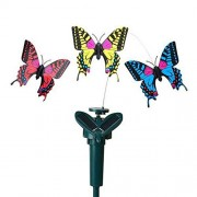 Woopower 1 Set Solar Butteryfly Toy, Vibration Solar Power Dancing Butterflies, Solar and Battery Powered Fly