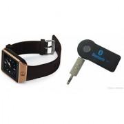 Mirza DZ09 Smart Watch and Car Bluetooth for LG OPTIMUS L5 DUAL(DZ09 Smart Watch With 4G Sim Card Memory Card| Car Bluetooth)