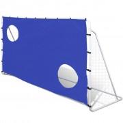 vidaXL Baliza de futebol com Tela de Pontaria, de Aço, 240 x 92 x 150 cm