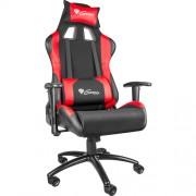 Scaun gaming Genesis NITRO 550 RED Negru/Rosu, Textil si Piele, Metal