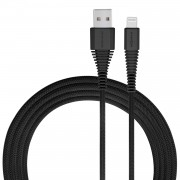 MOMAX Tough Link Apple MFI Certified 2.4A Lightning 8Pin Data Sync Charge Woven Cable 2m