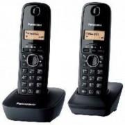 Bežični telefon Panasonic KX-TG1612FXH, crni (dve slušalice)