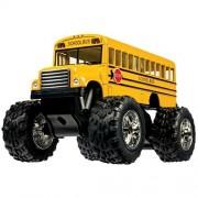 Diecast Metal School Bus Big Wheel Monster Truck Toy (1)