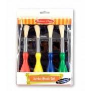 Set 4 pensule jumbo cu maner special