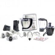 Robot de bucatarie Tefal Masterchef Gourmet QB505D38, 900 W, Bol 4.6 l, Blender 1.5 l, Accesorii patiserie, Masina de tocat, Storcator, Argintiu