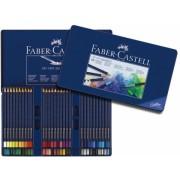 Creioane Colorate Aquarelle Art Grip 60 Culori Cutie Metal Faber-Castell