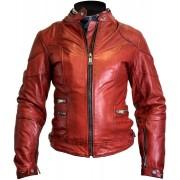 Helstons Pat Senhoras jaqueta de couro da motocicleta Vermelho XL