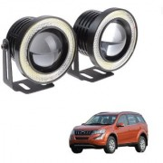 Auto Addict 3.5 High Power Led Projector Fog Light Cob with White Angel Eye Ring 15W Set of 2 For Mahindra XUV 500 New