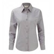 Ladies LS Easy Care Oxford Silver