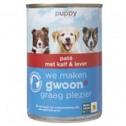 G´woon Hondenvoer junior paté met kalf & lever
