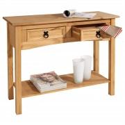 CARO-Möbel Konsolentisch SALSA Kiefer massiv mit 2 Schubladen