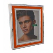 Rama foto portocalie argintata Benetton Made in Italy dimensiuni 25x20x4.7 cm