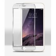 Стъклен алуминиев протектор за Apple iPhone 6 Сребрист