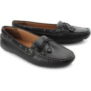 Clarks Dunbar Racer Women Genuine Leather Boat shoes For Women(Black)