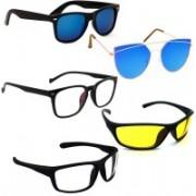 Vitoria Spectacle , Butterfly, Wayfarer, Wrap-around Sunglasses(Multicolor)