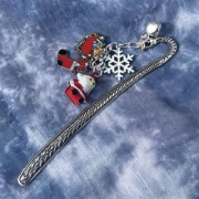 Santa Bookmark Christmas Charms
