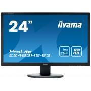 "iiyama ProLite E2483HS-B3 24"" Full HD TN Matt Black Flat computer monitor LED display"